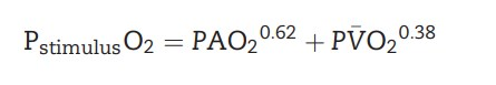 equation describing stimuli contributing to hypoxic pulmonary vasoconstriction