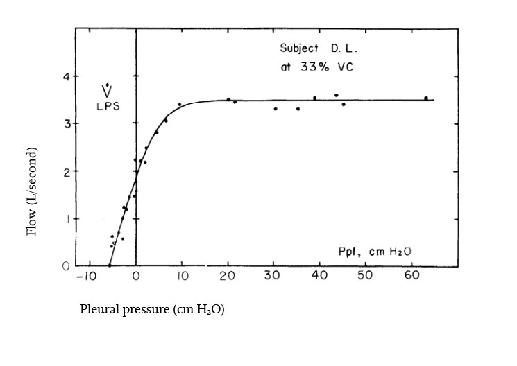 flow-pressure curve from Mead et al (1967)